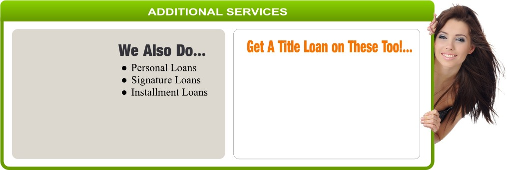 Personal Signature and Installment Loans