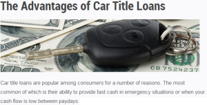 Car Title Loans in Utah Provide Quick Access to Emergency Funding